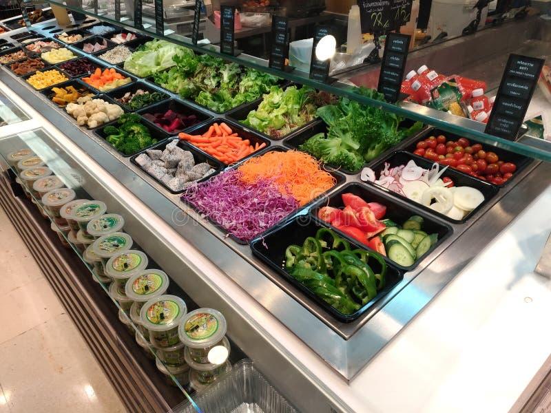 Comptoir à salades images libres de droits