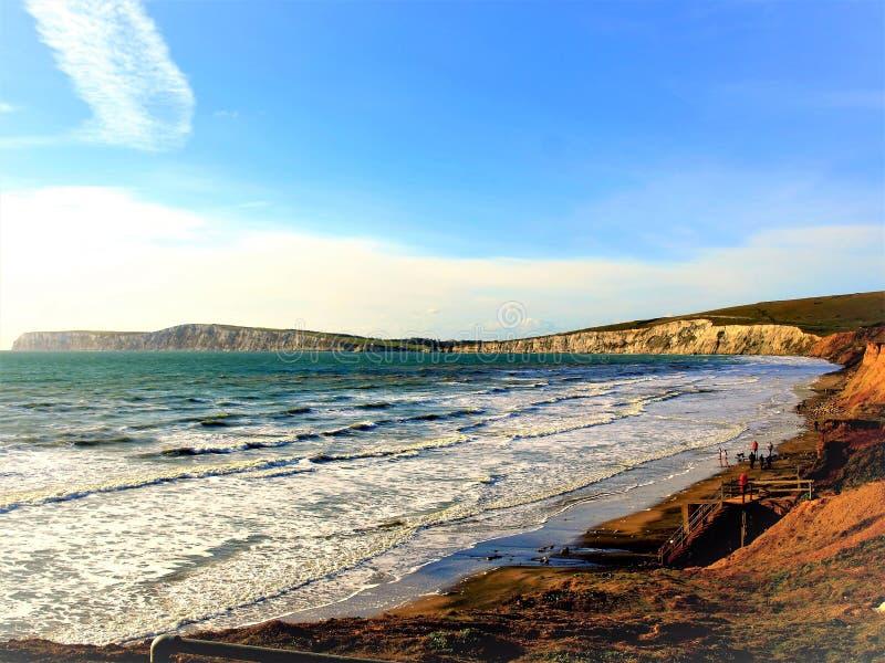 Compton κόλπος, Isle of Wight, UK στοκ εικόνα με δικαίωμα ελεύθερης χρήσης