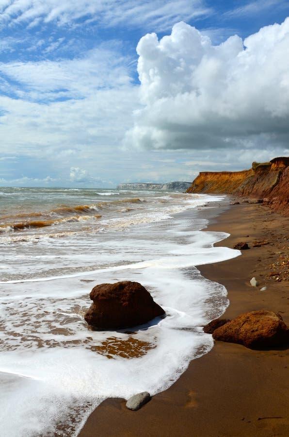 Compton παραλία, Isle of Wight στοκ φωτογραφία