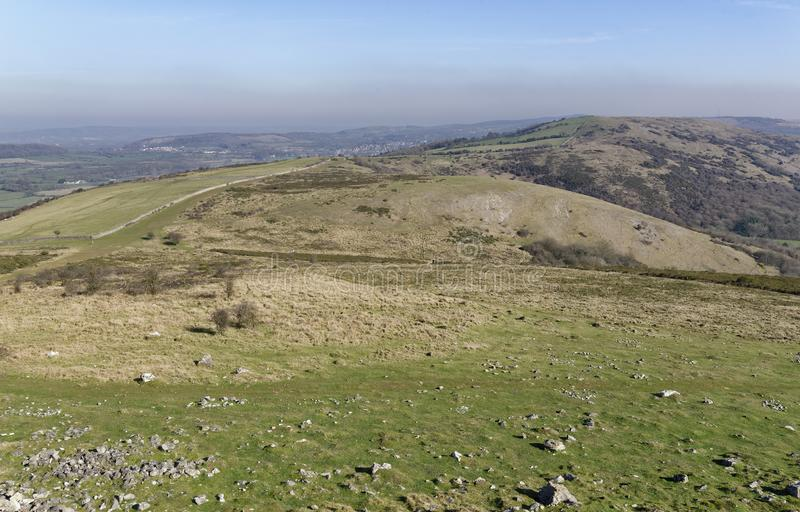 Compton Hill & Wavering Down. A Mendip outlier above Compton Bishop, Somerset, UK royalty free stock photography