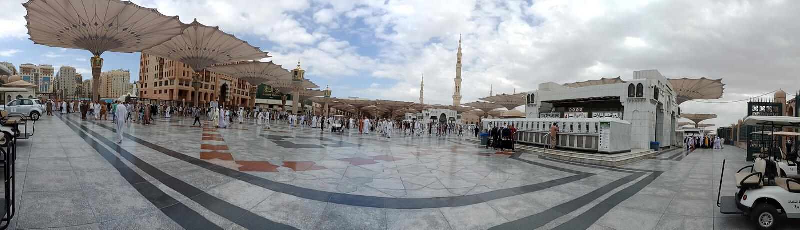 Compuesto del nabvi del al del masjid fotos de archivo libres de regalías