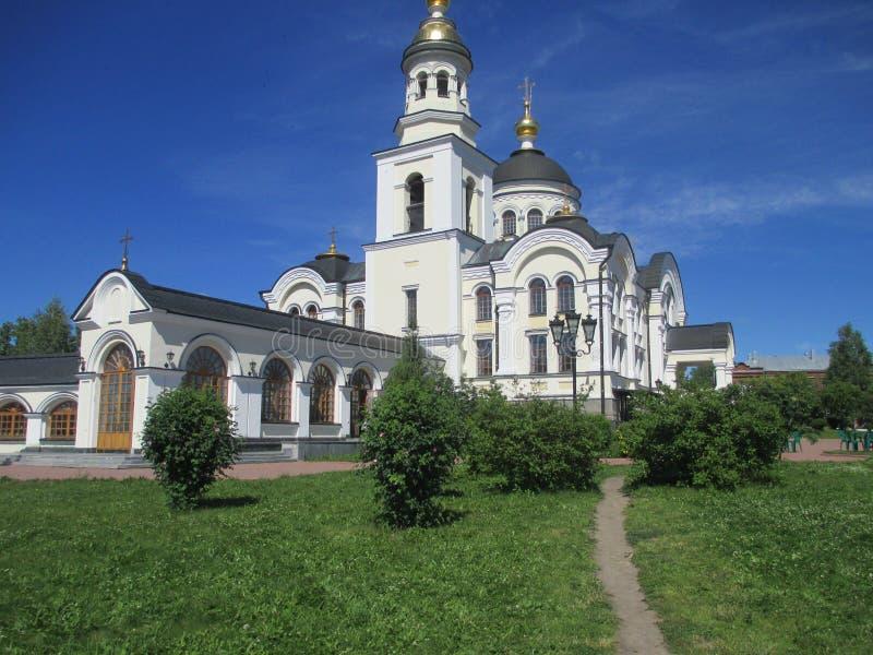 Compuesto del St Simeon del monasterio del Alexander Nevsky Novo-Tikhvin Women fotografía de archivo libre de regalías