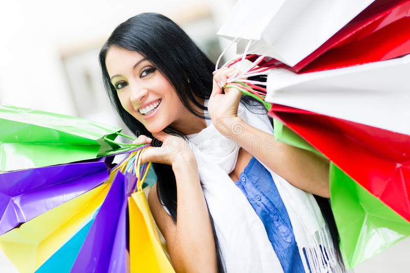 Download Compulsive buyer stock photo. Image of joyful, mall, fashion - 25188676