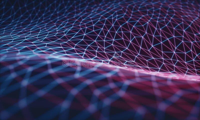 Computação da nuvem/rede neural ilustração stock