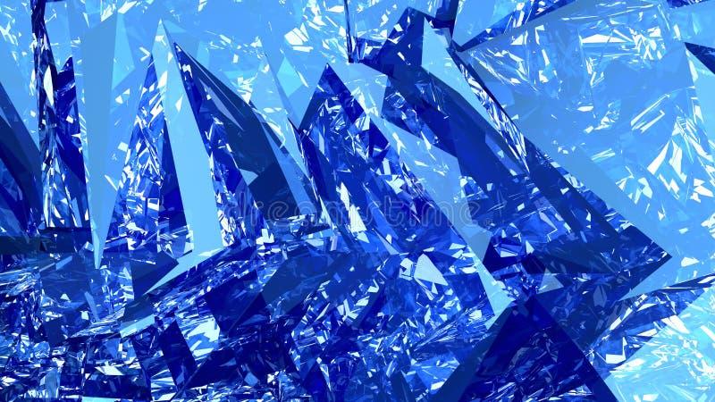 Computação gráfica azul abstrata do fundo ilustração do vetor