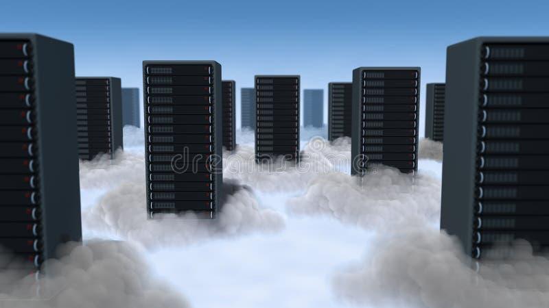 Computação nas nuvens ilustração do vetor