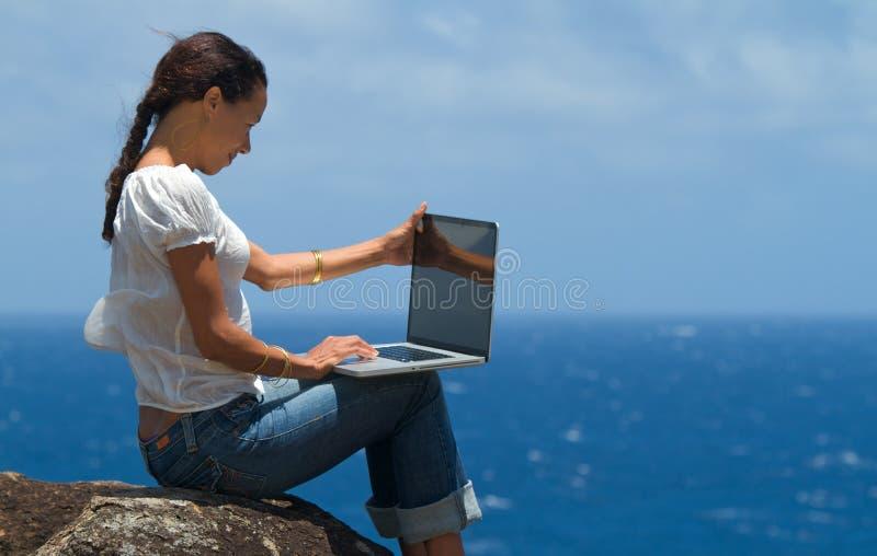 Computação no paraíso imagens de stock royalty free