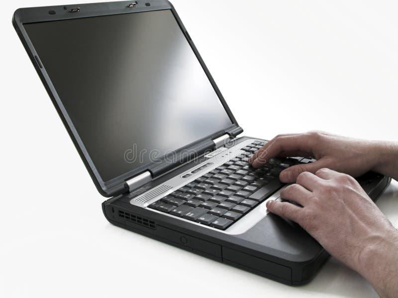 Computación De La Computadora Portátil Foto de archivo libre de regalías