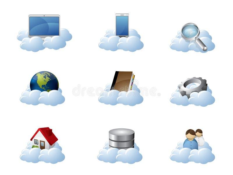 Computación de la nube ilustración del vector