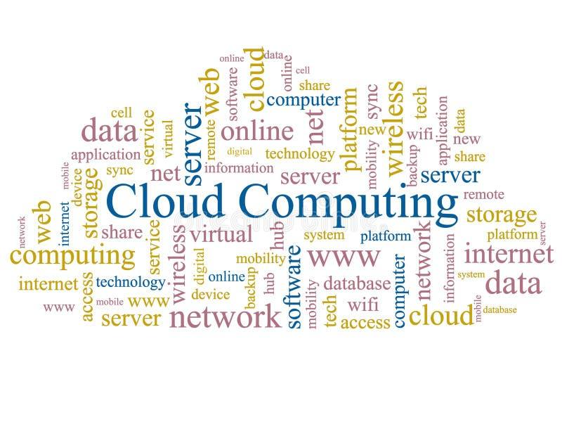 Computación de la nube. fotografía de archivo libre de regalías