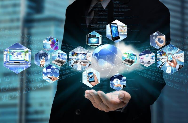 Computación de la nube de Internet imagenes de archivo