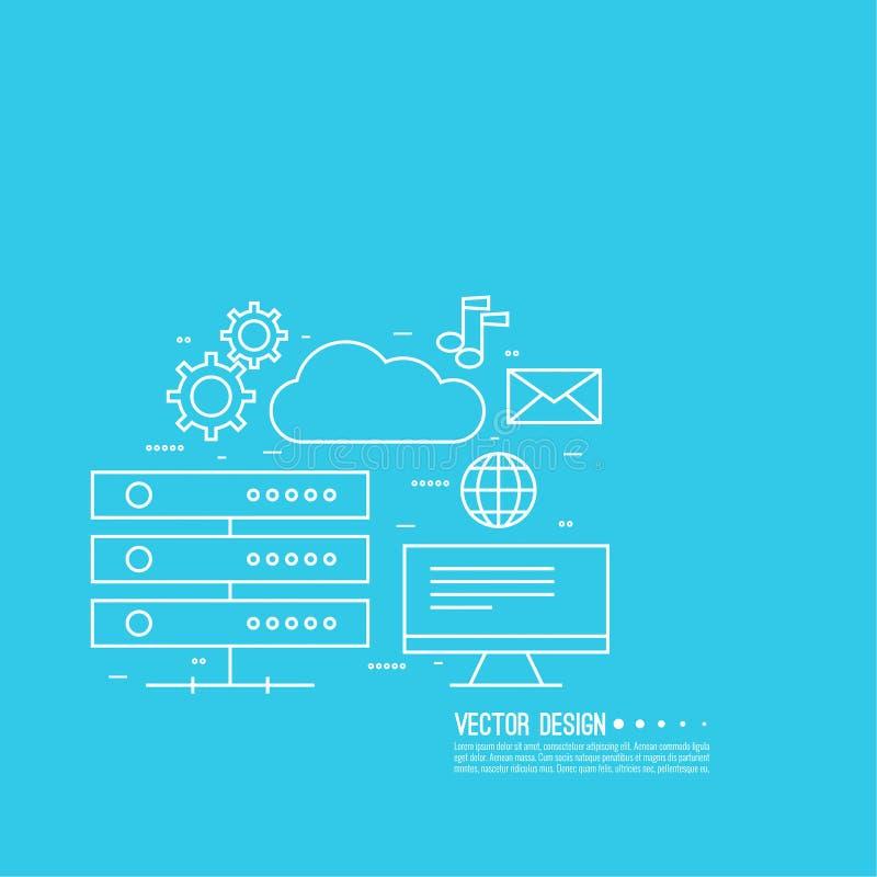 Computación de la nube de la red libre illustration