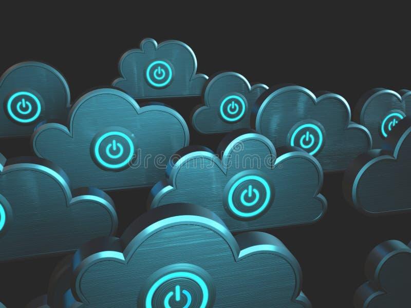 Computación de la nube del poder ilustración del vector