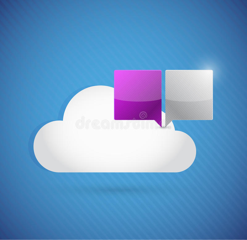 Computación de la nube y concepto de la comunicación libre illustration