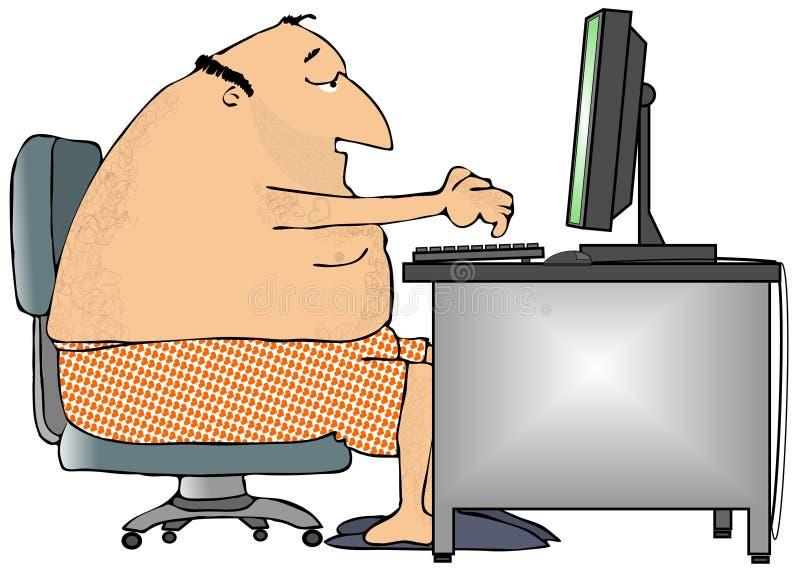 Computación ocasional stock de ilustración