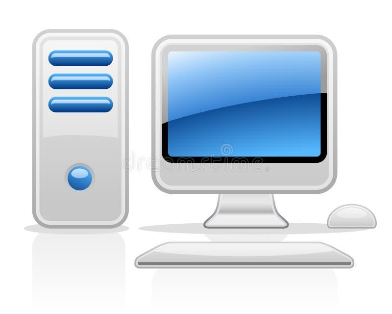 Computador ilustração stock