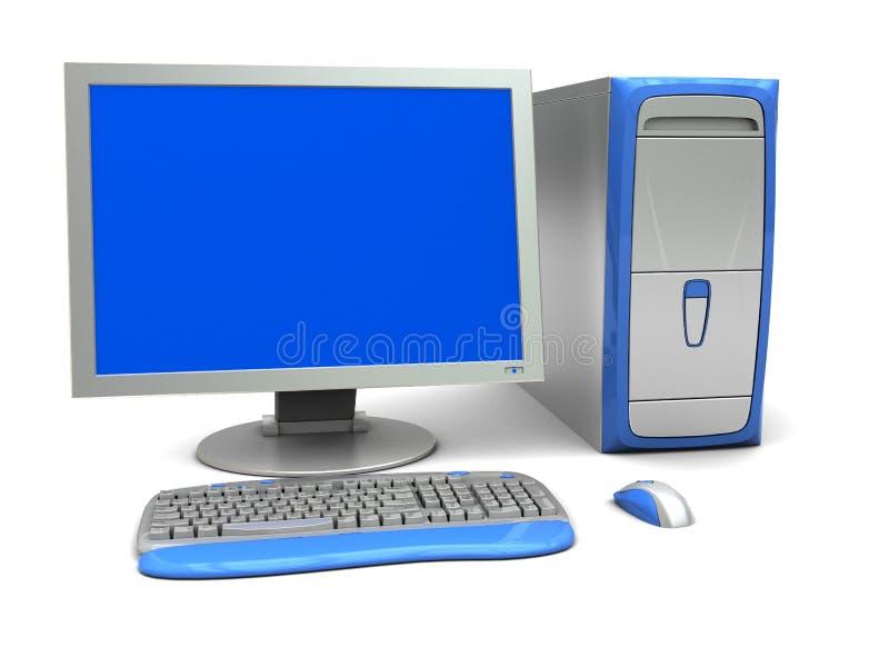 computador 3d ilustração do vetor