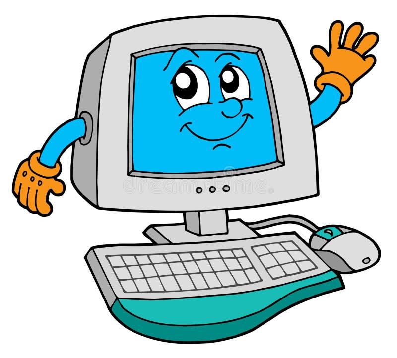 Computador bonito ilustração do vetor