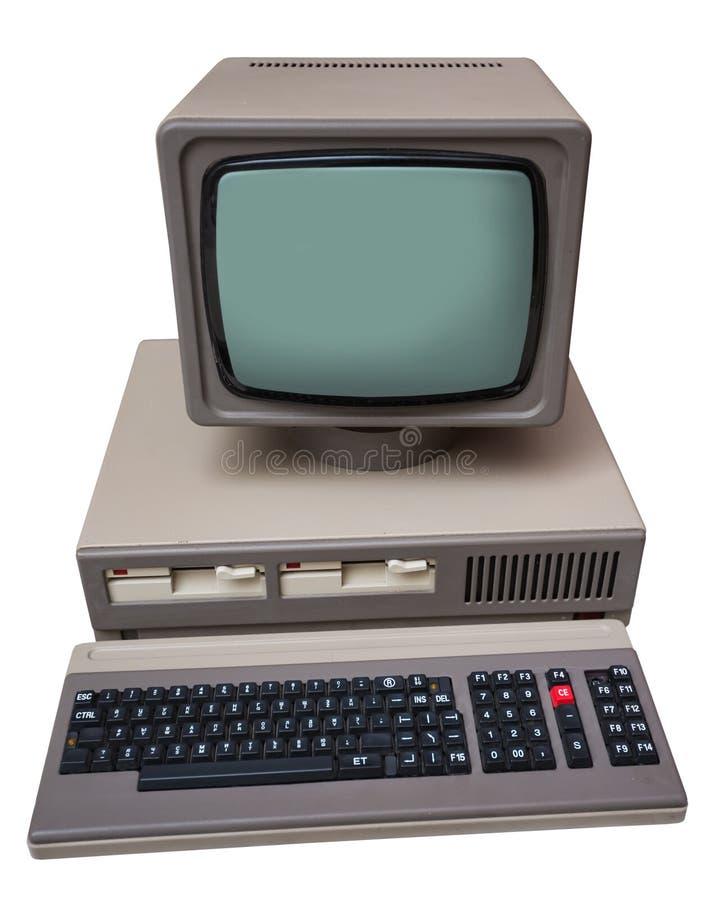 Computador cinzento velho imagem de stock