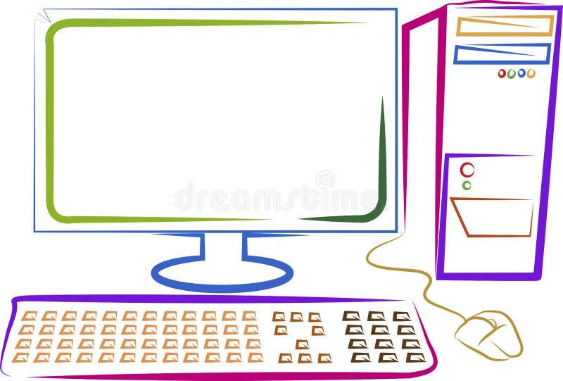 Computador da arte ilustração do vetor