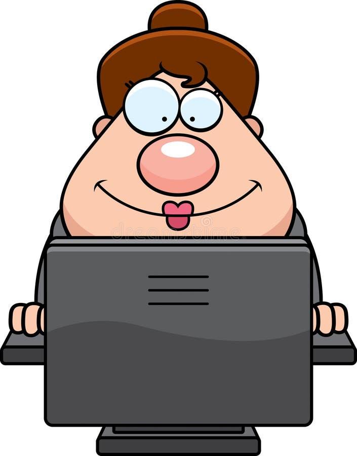 Computador da mulher de negócio ilustração royalty free