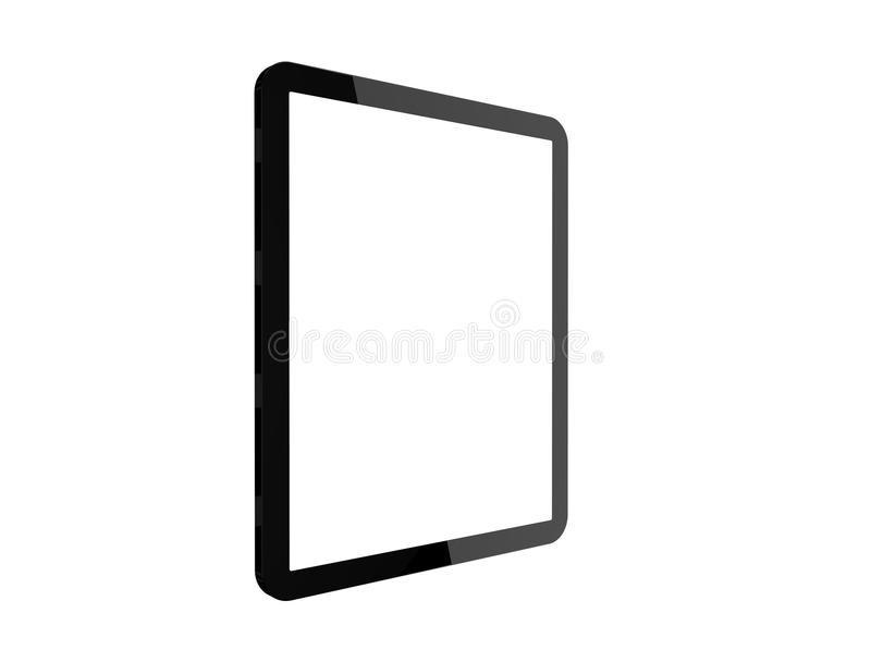 Computador da tabuleta com a tela branca vazia dobrada imagens de stock
