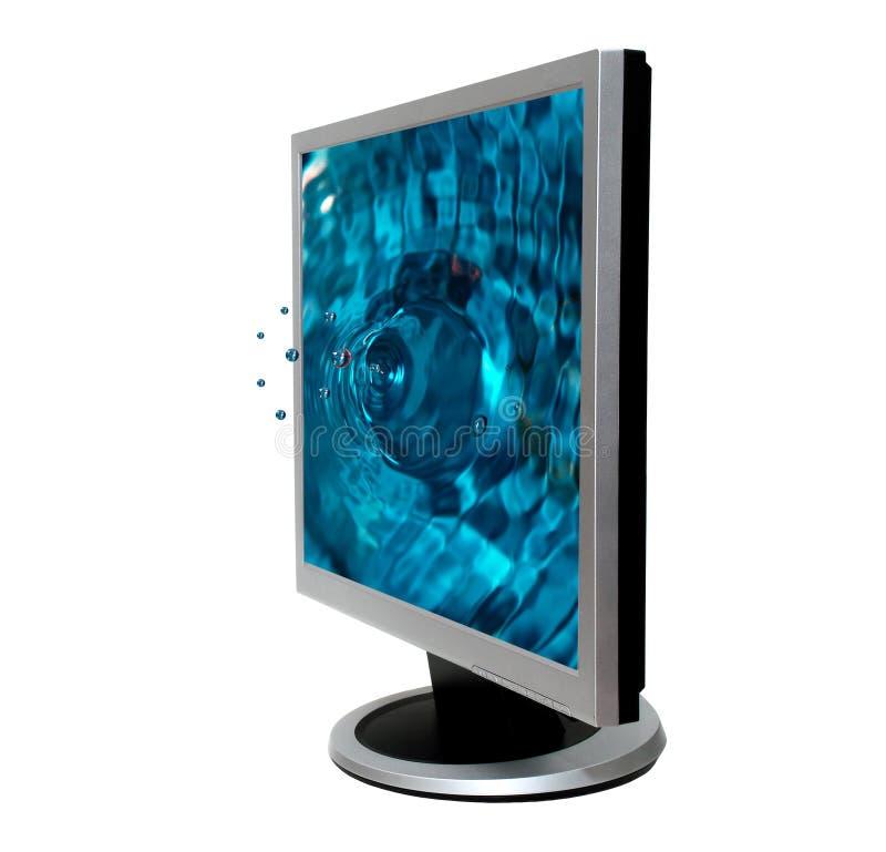Computador da tela lisa fotografia de stock royalty free