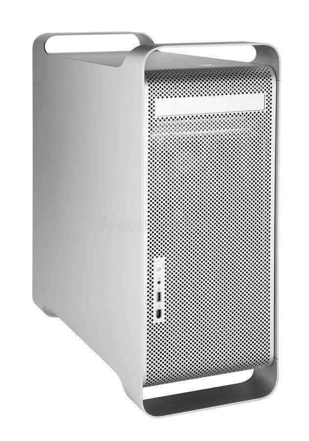 Computador de prata fotografia de stock