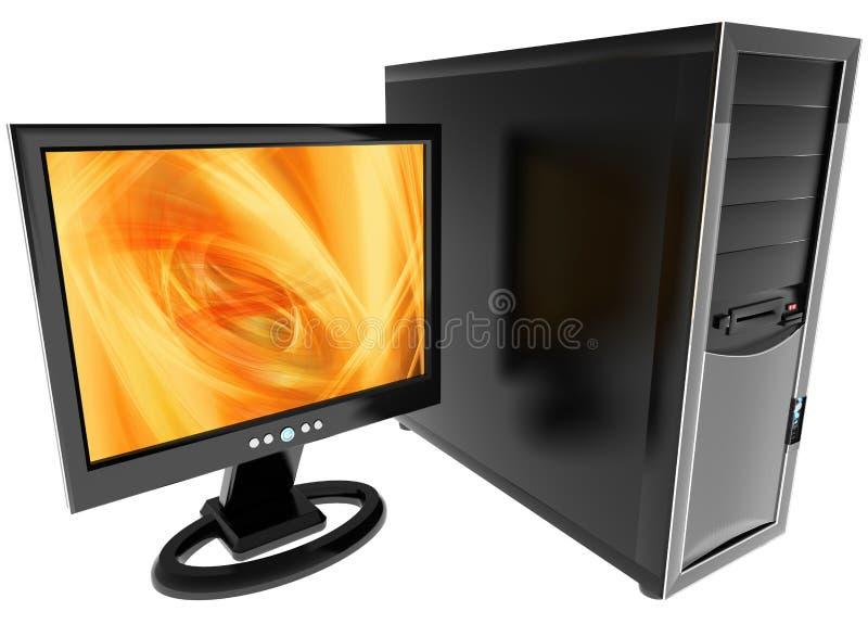 Computador de secretária ilustração do vetor