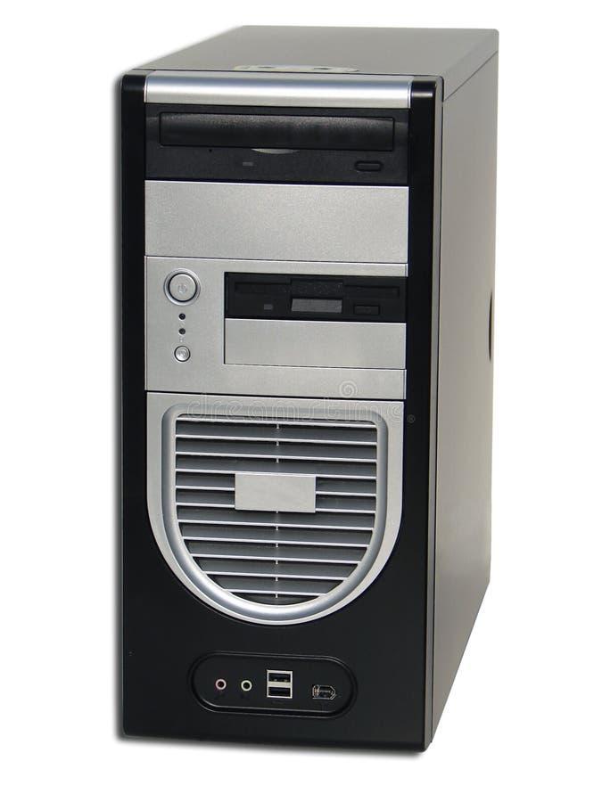 Computador de secretária do PC fotografia de stock royalty free