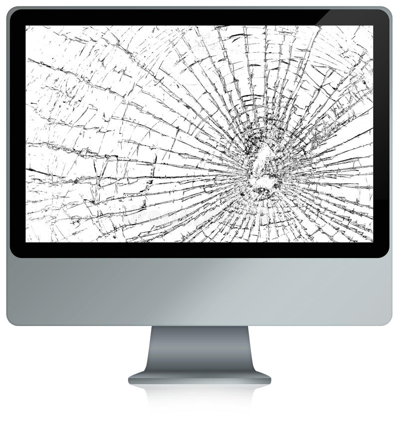 Computador despedaçado ilustração do vetor