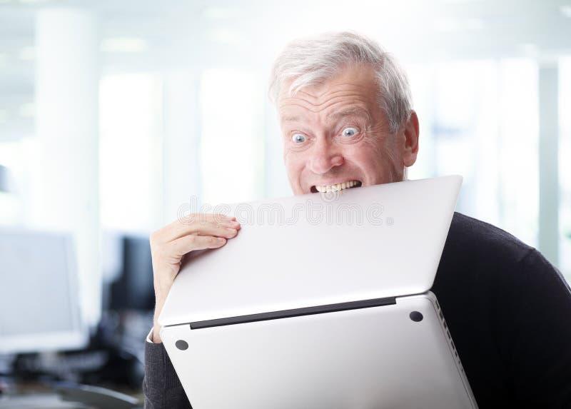 Computador do ódio imagem de stock