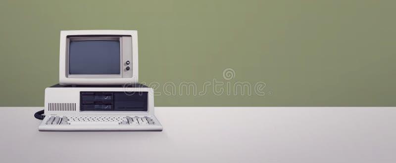 Computador do DOS fotografia de stock