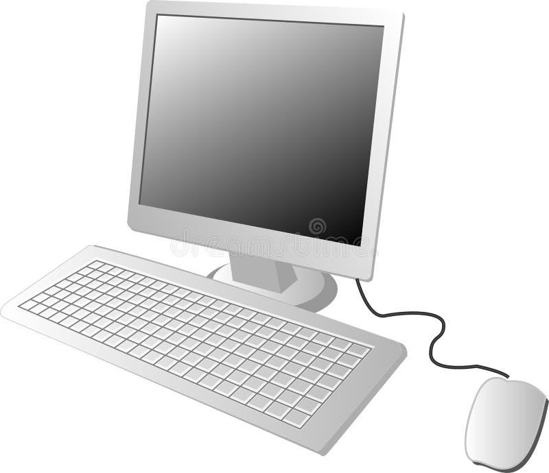 Computador do LCD ilustração royalty free