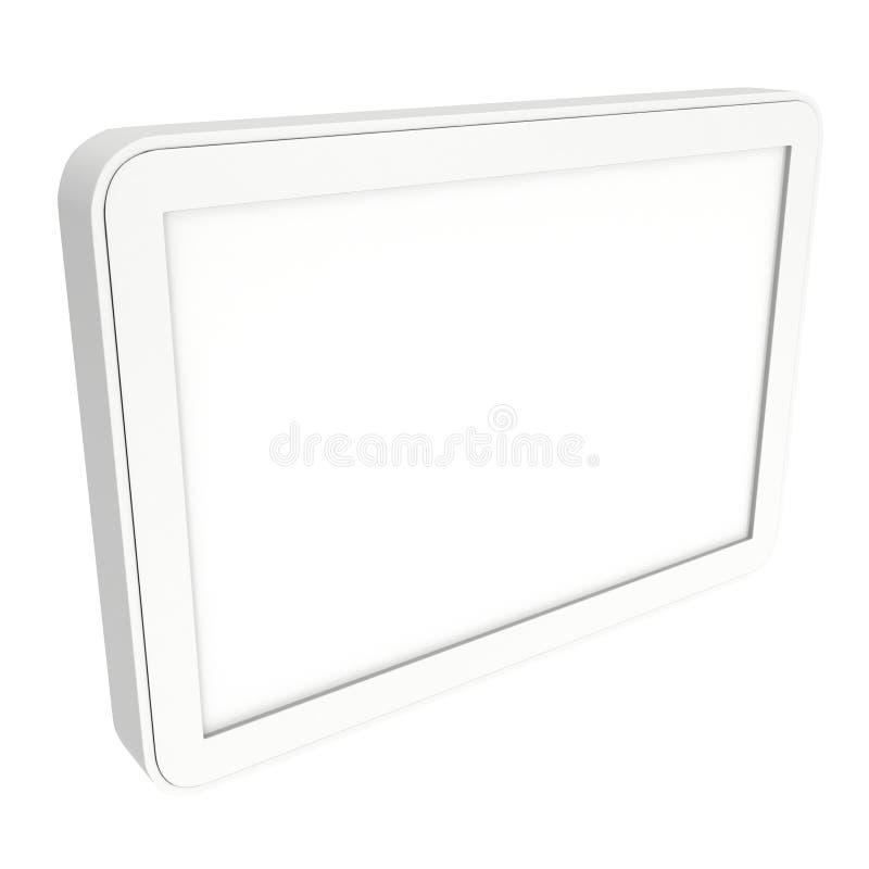 Computador do PC da tabuleta com tela em branco ilustração royalty free