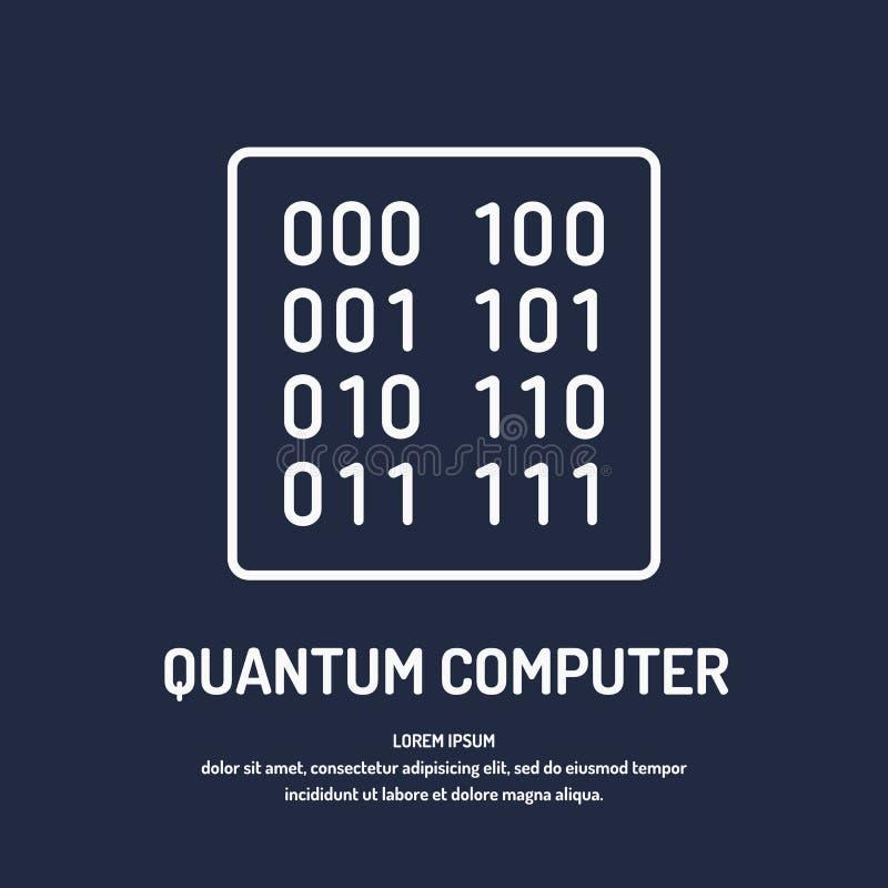 Computador do quantum do cálculo Transferência da análise e de dados ilustração stock