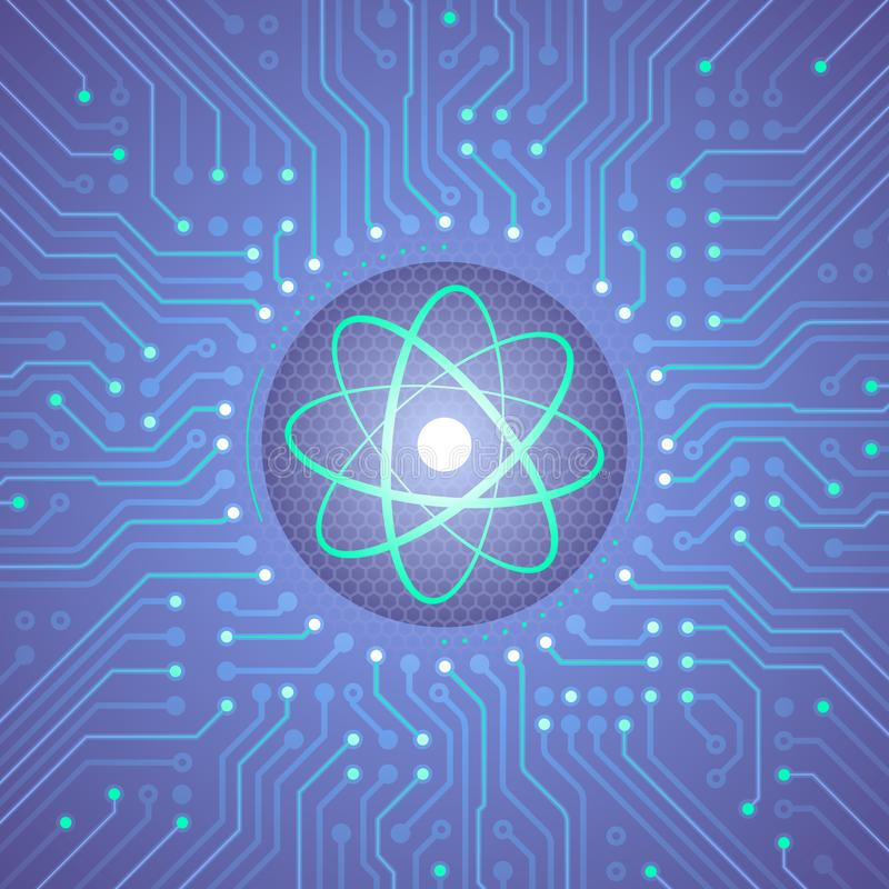 Computador do quantum ilustração royalty free