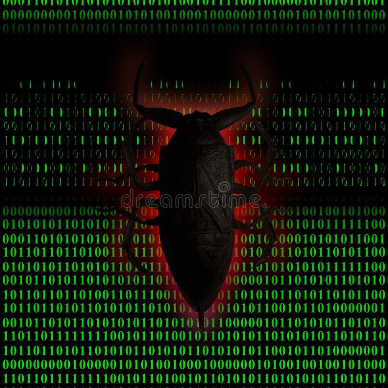 Computador do vírus ilustração stock