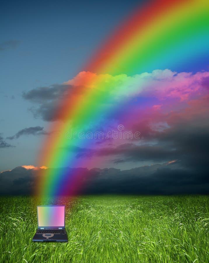 Computador e arco-íris