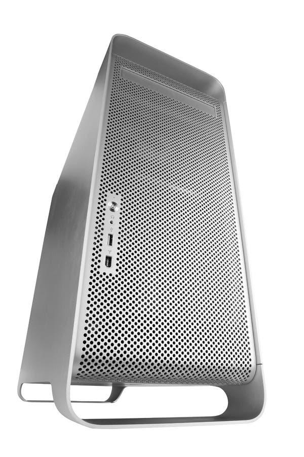 Computador GRANDE de prata imagem de stock royalty free