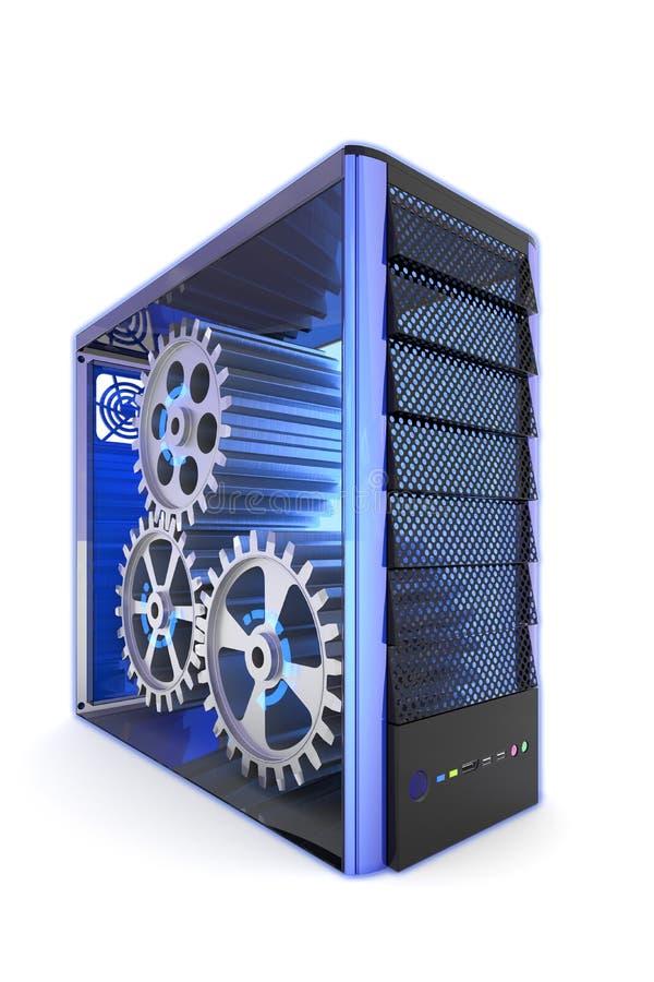 Computador interno ilustração stock