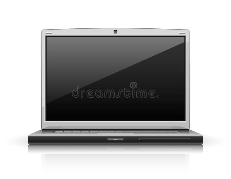 Computador moderno do portátil ilustração royalty free