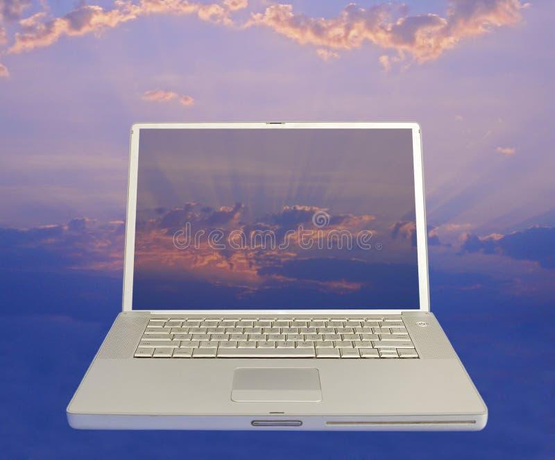 Computador no céu 1 imagem de stock