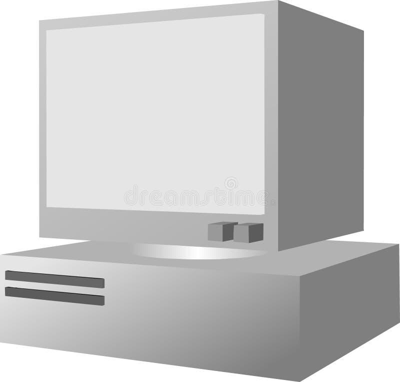 Computador pessoal ilustração royalty free