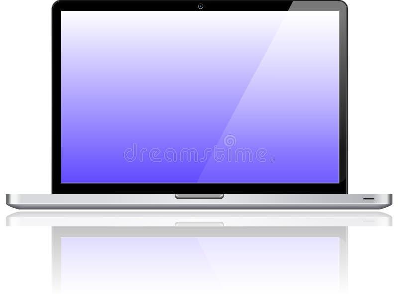 Computador pessoal do caderno do portátil ilustração do vetor