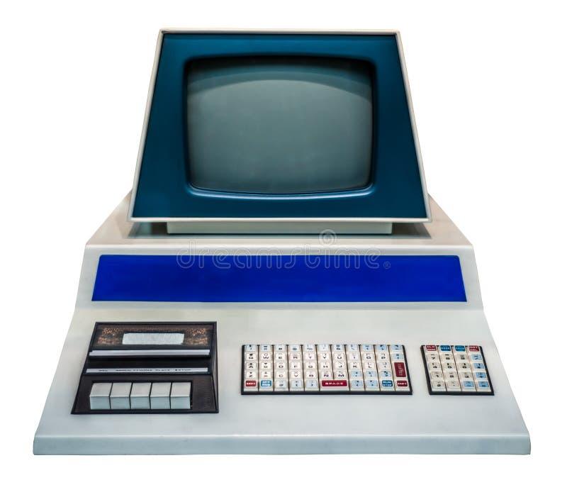 Computador pessoal do vintage foto de stock