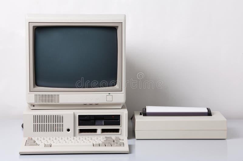 Computador pessoal velho foto de stock