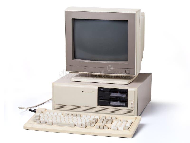 Computador pessoal velho fotografia de stock royalty free