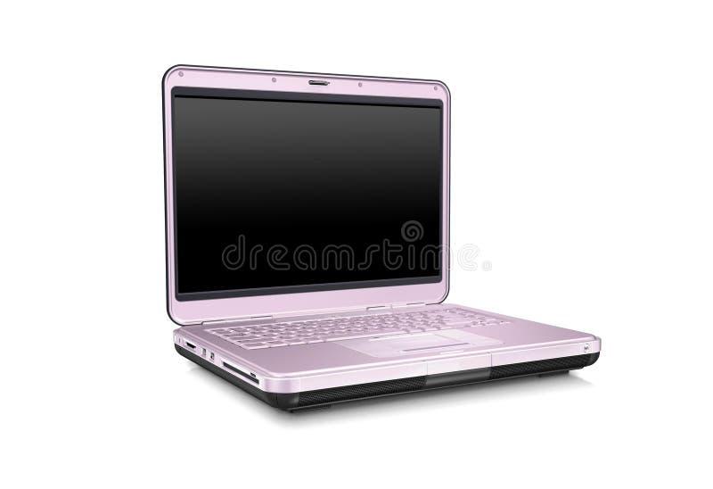 Computador portátil cor-de-rosa foto de stock royalty free