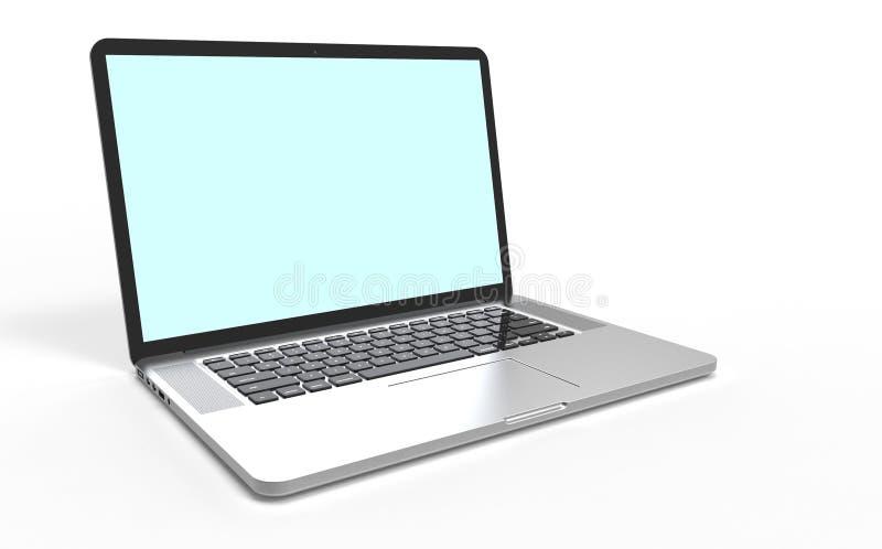 Computador portátil moderno ilustração royalty free